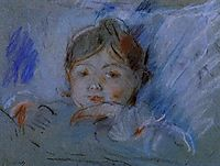 Child in Bed, 1884, morisot