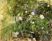 A Corner of the Rose Garden, 1885, morisot
