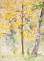 Fall Colors in the Bois de Boulogne, 1888, morisot