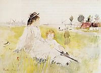 Girl and Child on the Grass, 1875, morisot