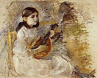 Girl Playing the Mandolin, 1890, morisot