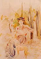 Girl with Greyhound, 1893, morisot