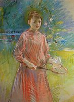 Girl with Shuttlecock (also known as Jeanne Bonnet), 1888, morisot