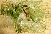 Griffon dog-s head, Follette, 1882, morisot