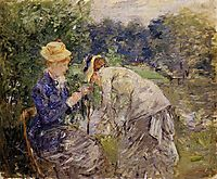In the Bois de Boulogne , morisot
