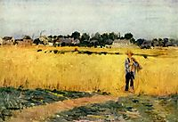 In the Wheatfield at Gennevilliers, 1875, morisot