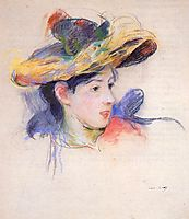Jeanne Pontillon Wearing a Hat, 1893, morisot