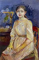 Julie Manet with a Budgie, 1890, morisot
