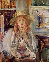 Julie Manet with a straw hat, 1892, morisot