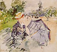 Lady with a Parasol Sitting in a Park, 1885, morisot