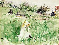 Little Girl Sitting on the Grass, 1882, morisot