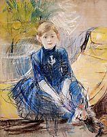 Little Girl with a Blue Jersey, 1886, morisot