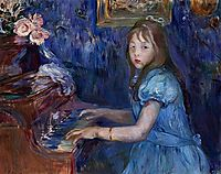 Lucie Leon at the Piano, 1892, morisot