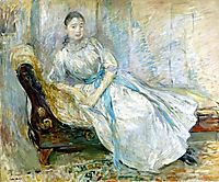 Madame Albine Sermicola in the Studio, 1889, morisot