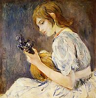 The Mandolin, 1889, morisot