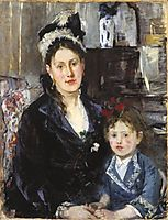 Mme Boursier and Her Daughter, 1873, morisot
