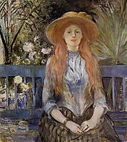 On a Bench, 1889, morisot