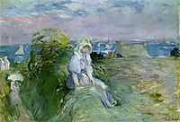 On the Cliff at Portrieux, 1894, morisot