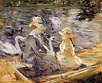 On the Lake in the Bois de Boulogne, 1884, morisot