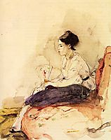 On the Sofa, 1871, morisot