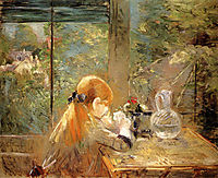 On The Veranda, 1884, morisot