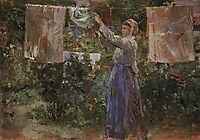 Peasant Hanging out the Washing, 1881, morisot