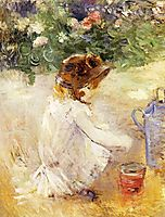 Playing in the Sand, 1882, morisot
