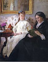 Portrait of the Artist-s Mother and Sister, morisot
