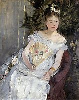 Portrait of Marguerite Carre (also known as Young Girl in a Ball Gown), 1873, morisot