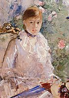 Portrait of a Young Lady , morisot