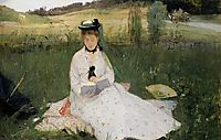Reading with Green Umbrella, 1873, morisot