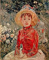 The red blouse, 1885, morisot
