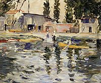 The Seine at Bougival, 1884, morisot