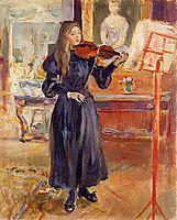 Studying the Violin, 1893, morisot