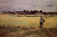 In the Wheat Fields at Gennevilliers, 1875, morisot