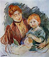 Woman and Child, 1894, morisot