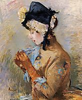 Woman Wearing Gloves (aka The Parisian), 1885, morisot