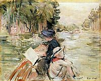 Woman with a Child in a Boat, 1892, morisot