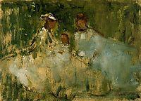 Women and Little Girls in a Natural Setting, morisot