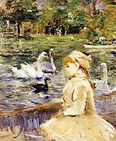 Young girl boating, 1884, morisot