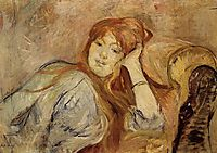 Young Girl Leaning on her Elbow, 1887, morisot