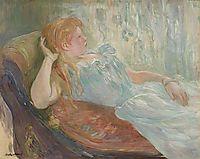Young girl lying, 1893, morisot
