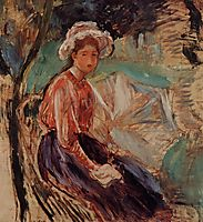 Young Girl with an Umbrella, 1893, morisot