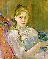 Young Girl with Cat, 1892, morisot