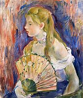 Young Girl with a Fan, 1893, morisot