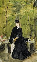 Young Lady Seated on a Bench, 1864, morisot