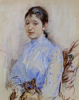 Young Woman in a Blue Blouse, 1889, morisot