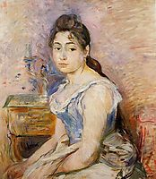 Young Woman in a Blue Blouse, 1891, morisot