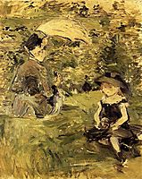Young Woman and Child on an Isle, 1883, morisot