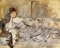 Young Woman in Grey Reclining, 1879, morisot